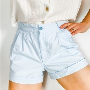 Vintage adidas originals blue pleat front shorts